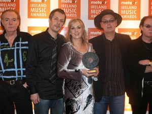 Clannad with their Lifetime Achievement award at the 2007 Meteor Music Awards at Dublin's Point Theatre.