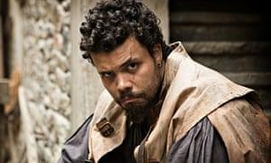 Howard Charles as Porthos in The Musketeers.