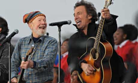 Pete Seeger and Bruce Springsteen