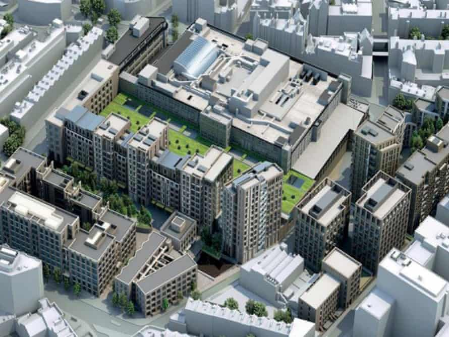Urban fortress … the plans for Mount Pleasant rise up to 15 storeys and 'turn their back on the surroundings'