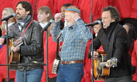 Pete Seeger with Bruce Springsteen