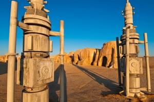 Tunisia --- North Africa, Tunisia, Tozeur province, Onk Djemel, Reguette dunes, village set of the Star Wars movie