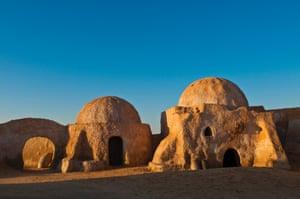 Tunisia, Tozeur province, Onk Djemel, Reguette dunes, village set of the Star Wars movie.