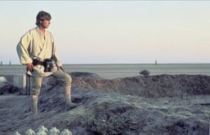 Mark Hamil as Luke Skywalker in the film 'STAR WARS: EPISODE IV - A NEW HOPE' (1977)