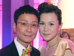 Gigi Chao, right, with her partner Sean Eav.