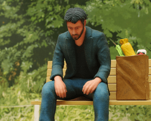 Cheer up Keanu, you've been 3D-printed...