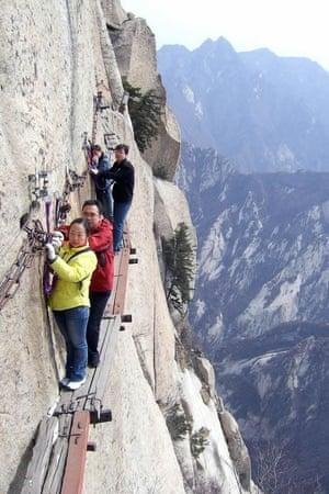 Huashan Mountain Cliff Hiking
