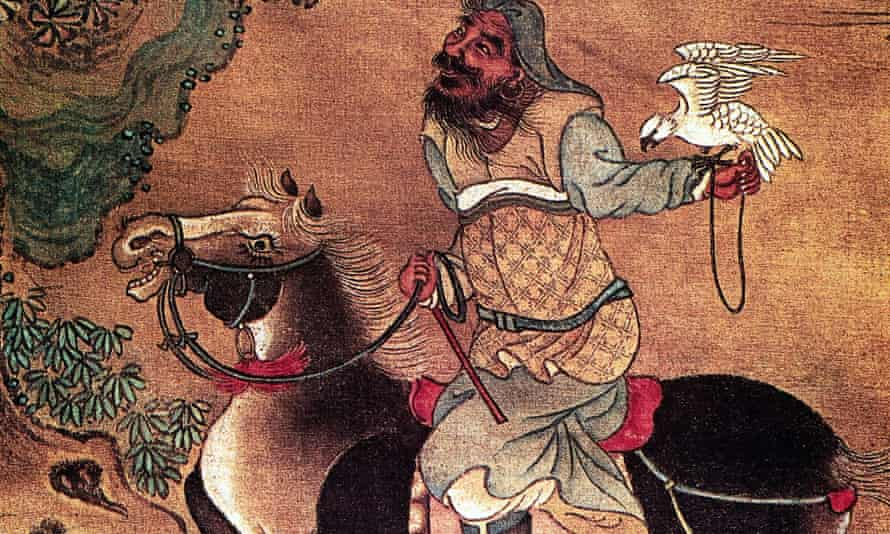 A painting of Genghis Khan.