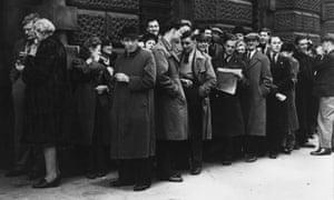 A long queue.