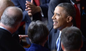 Barack Obama at the State of the Union address