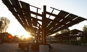 Solar panels Patagonia parking lot