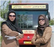 Female bus drivers in Tehran