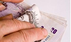 Bribery money hands