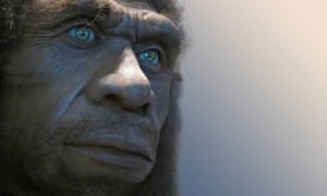 Recreation of a Neanderthal man