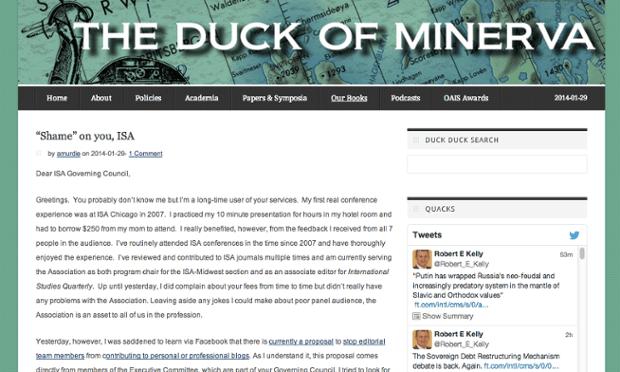 academic blog duck of minerva