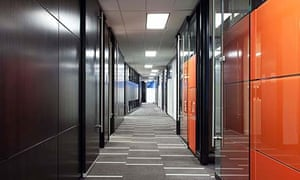 A modular office put together with Dirtt components and design software