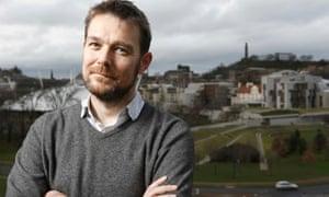 Playwright David Greig in Edinburgh