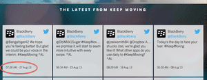 BlackBerry Keep Moving: not moving