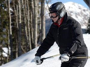 Putin in Sochi: Putin skis near Sochi