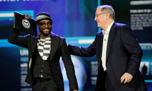 Will.i.am at CES with Intel in 2012.