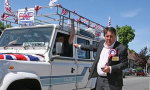 Nick Griffin during polling day 2010 general election