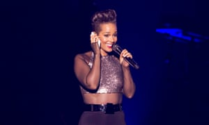 Alicia Keys performs at the Vector arena, Auckland, New Zealand.