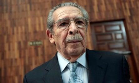 Former Guatemalan dictator José Efraín Rios Montt