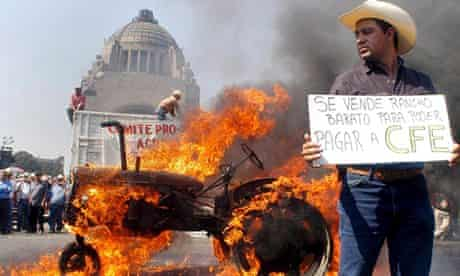 Protest against NAFTA in Mexico City
