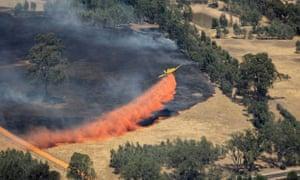 Firefighting in Victoria's Mallee region