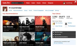 Last.fm combines music with big data in the form of its scrobbling technology.