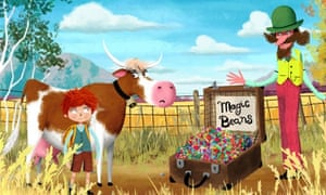 Jack and the Beanstalk app blends linear and nonlinear storytelling.