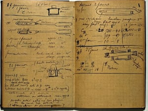 Pages from Marie Curie's notebook, c 1899