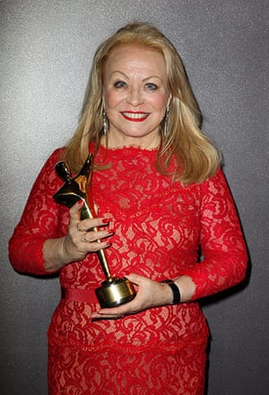 AACTA: Jacki Weaver poses for a photograph with her award for Lifetime Achievement