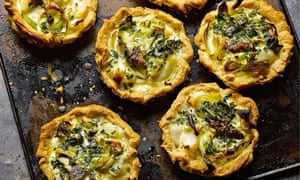 Yotam Ottolenghi's smoked haddock and oyster quiches