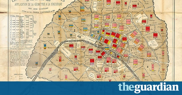 Ten City Maps From History In Pictures Cities The Guardian - Us map 1869