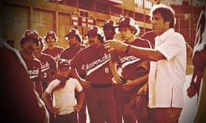 Bing Russell managing the Portland Mavericks in the Battered Bastards of Baseball documentary