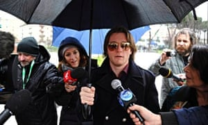 Raffaele Sollecito leaves court in Florence, Italy
