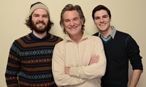 Kurt Russell with Bing Russell's grandsons Chapman (left) and Maclain Way