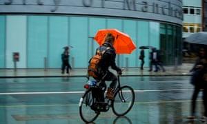 Heavy rain at the University of Manchester