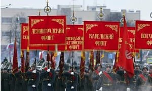 Soldiers mark 70th anniversary of the end of the Siege of Leningrad