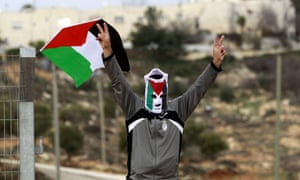 Palestinian protester in West Bank