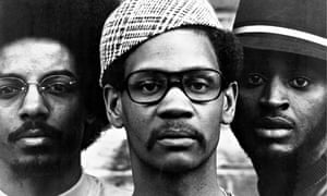Jalal Nuriddin (<em>left)</em> with fellow Lost Poets Abiodun Oyewole and Umar Bin Hassan, 1971.