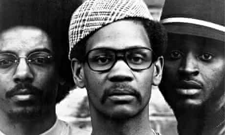 Jalal Nuriddin (<em>left)</em> with fellow Lost Poets Abiodun Oyewole and Umar Bin Hassan, 1971.