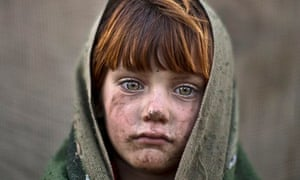 laiba Hazrat, a six-year-old Afghan refugee in Islamabad, Pakistan.