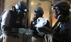 UN chemical weapons experts inspect site of alleged chemical weapons attack in Ain Tarma, Damascus