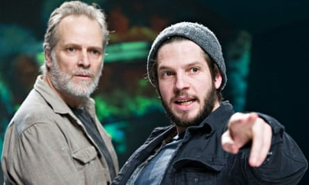 William Gaminara and Damien Molony in the Body of an American by Dan O'Brien at the Gate, London.