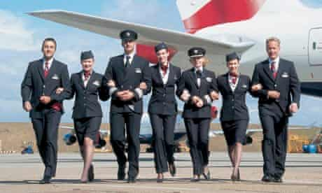 British Airways' 2004-era uniforms