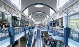 Shopping centre, Britain