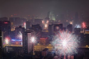 Concern over severe air pollution caused the Chinese government to restrict the use of fireworks this year, but some citizens of Beijing continued to celebrate the Chinese New Year with pyrotechnic displays.