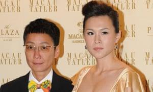 Gigi Chao, right, with her partner, Sean Eav.